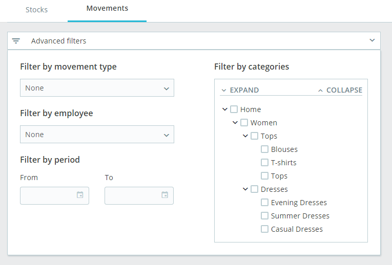 Advanced movement filters