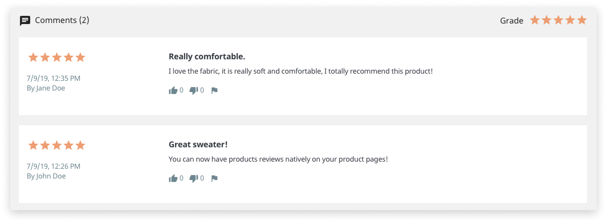 Updated Product Comments module